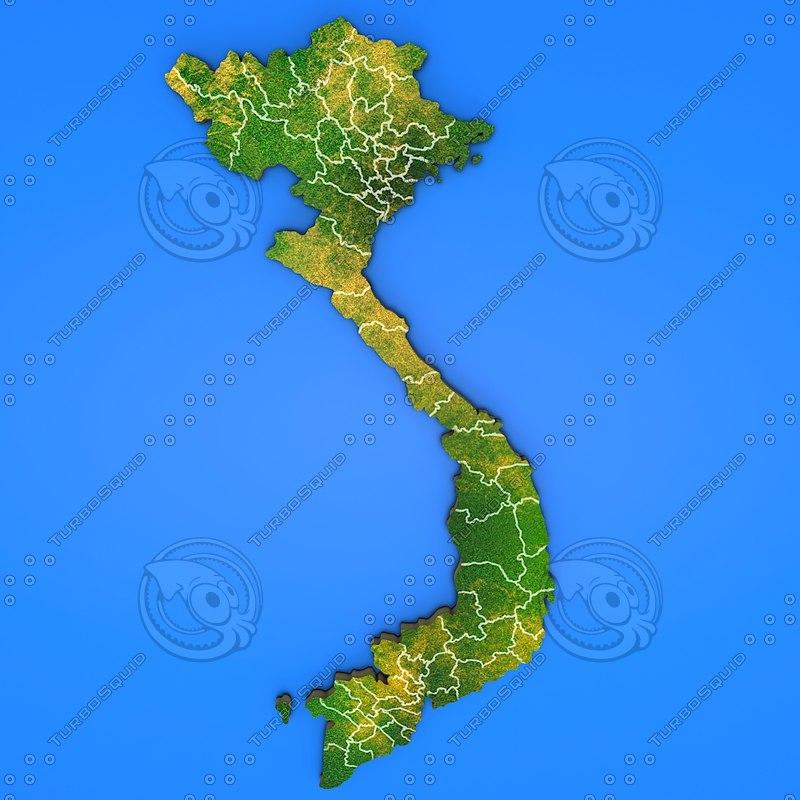 vietnam country obj