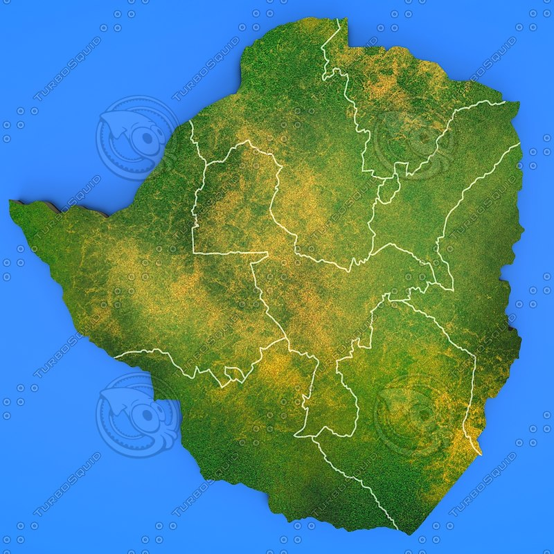 3d zimbabwe country model