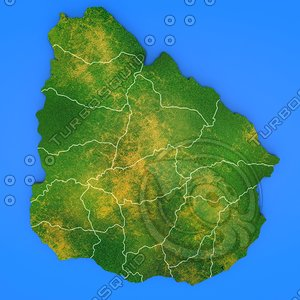 uruguay country 3d max