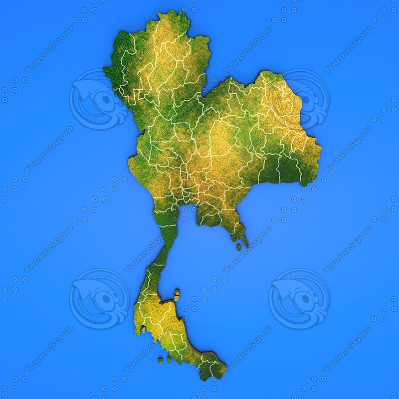 thailand country 3d model