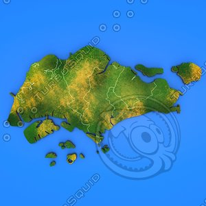 singapore country 3d model