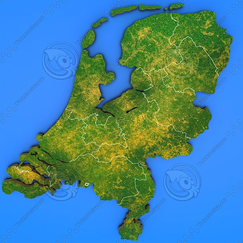 netherlands country 3d model