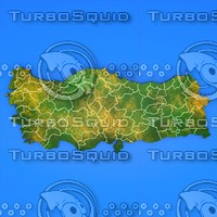 turkey country 3d model