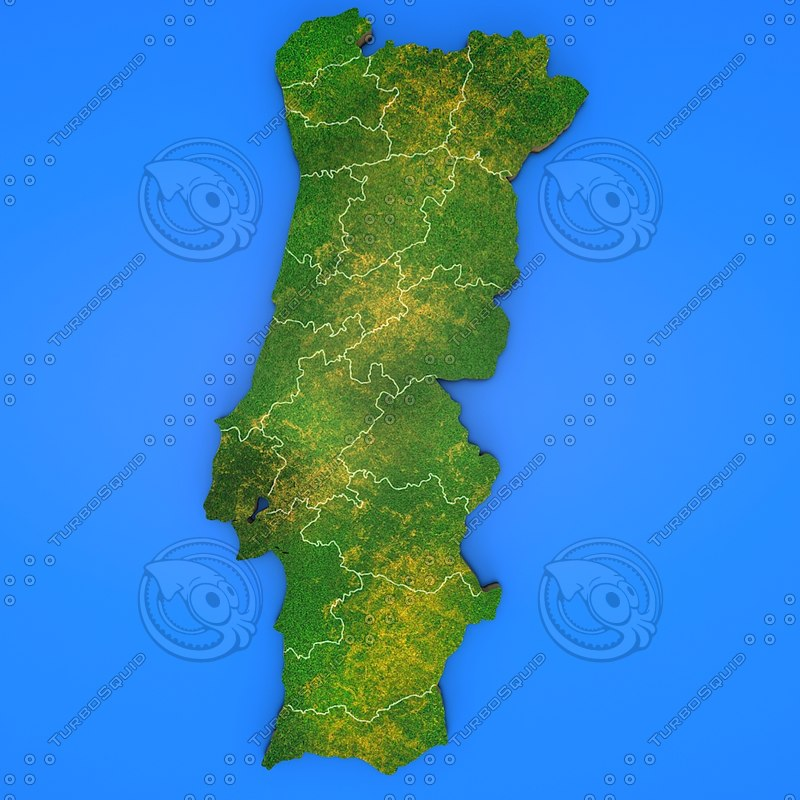 3d portugal country