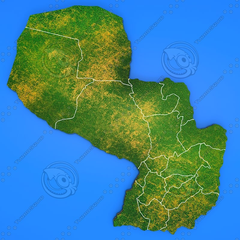 paraguay country 3d max