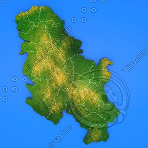 serbia country 3d max