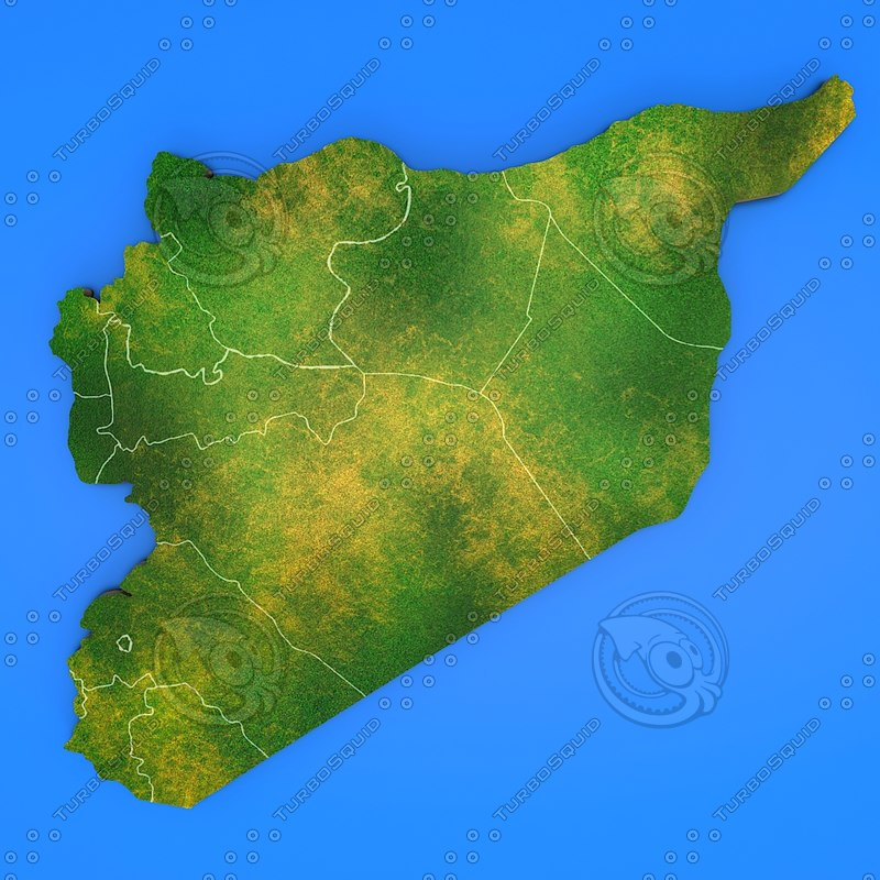 3d model of syria country