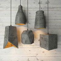 3d model cement lamp lights