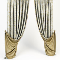 curtains classic 3d model