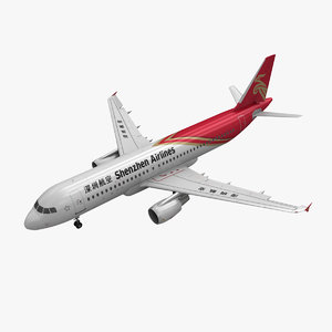 airbus a320 shenzhen airlines 3ds
