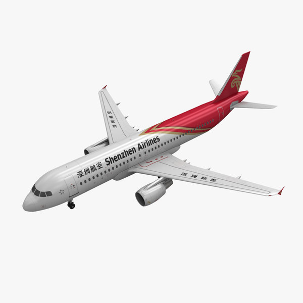 3d model airbus a320 shenzhen airlines