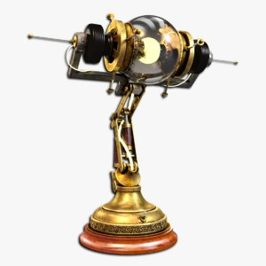 lamp steampunk 3d model