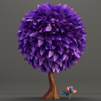 3d toon styled tree