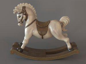 3d model rocking horse