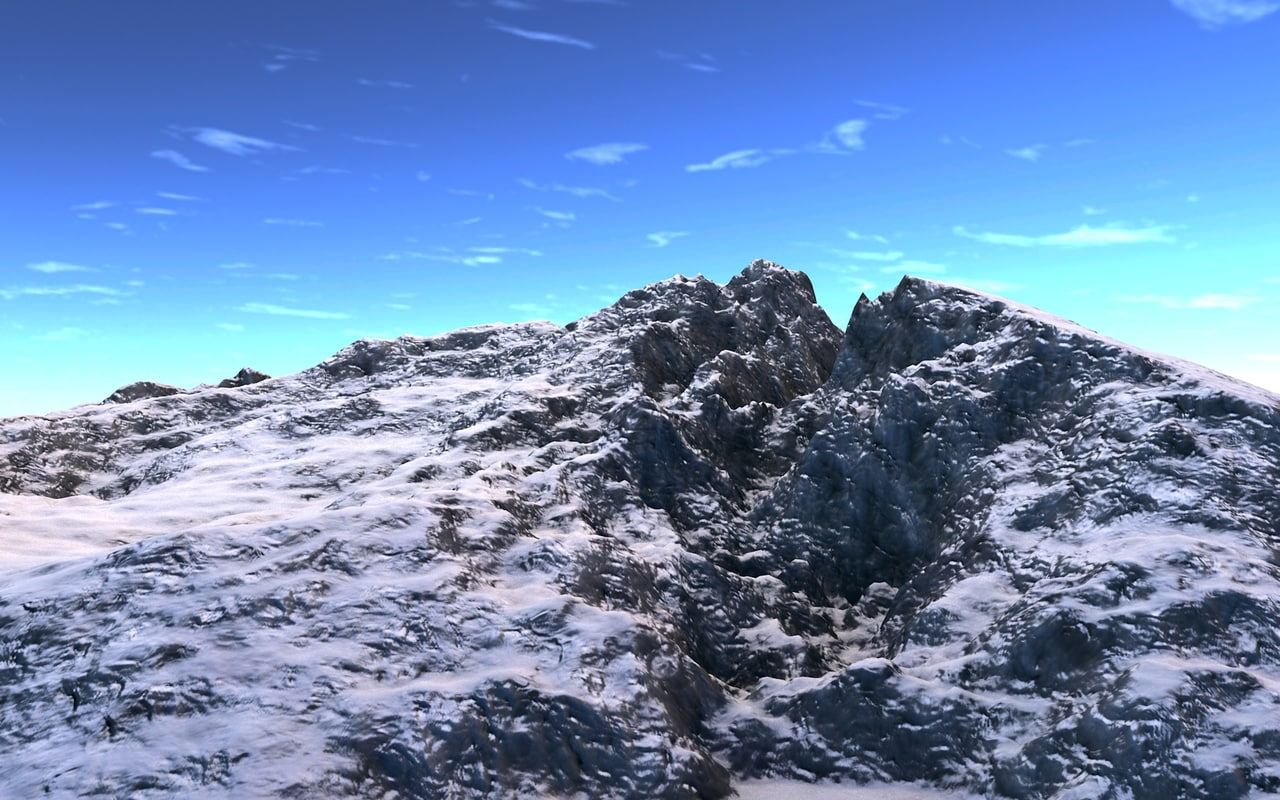 3d mountain realist montagnes model