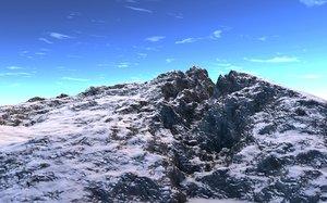 3d mountain realist montagnes model