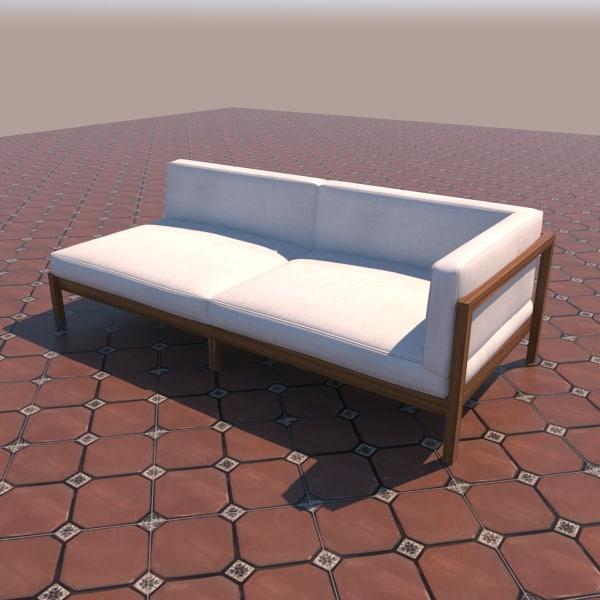 modern patio sofa 3d max