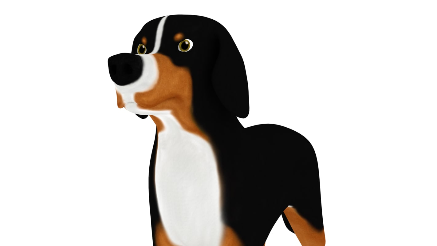 3d model bernese mountain