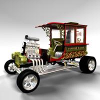 3d popcorn wagon