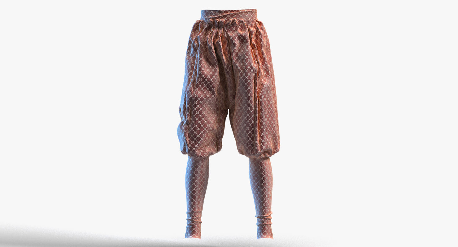 medieval pants trousers 3d max