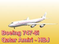 3d model boeing 747-8i qatar amiri