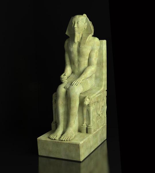 3d model statue pharaoh