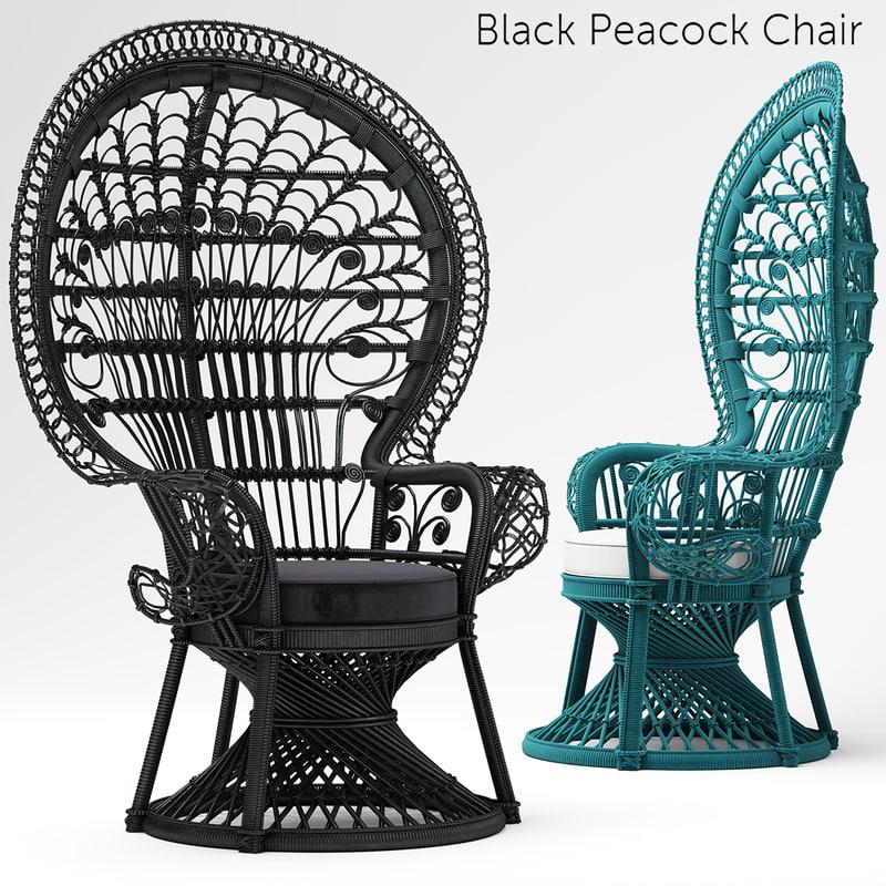 black peacock chair max