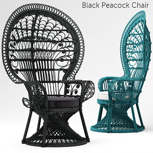black peacock chair max
