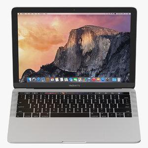 3d macbook pro touch bar