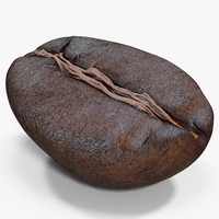 roasted coffee bean 7 3d max