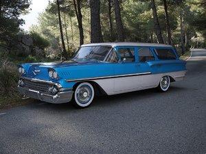 3d model chevrolet brookwood 1958
