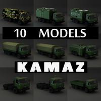 kamaz trucks 3d model
