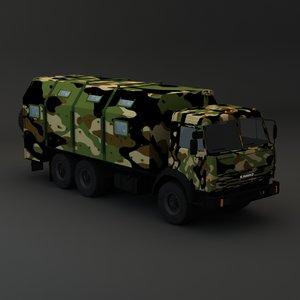 3d model kamaz maz army