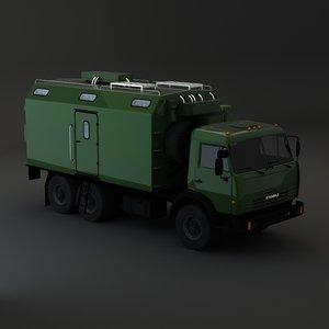 kamaz maz army 3d 3ds