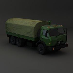 kamaz maz 3d model