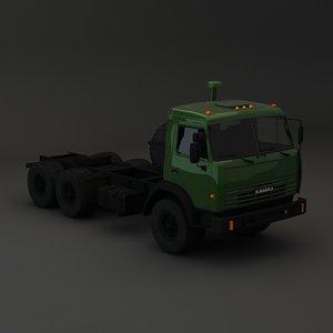 3d kamaz maz model
