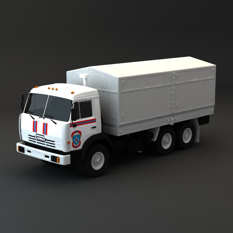 3d model kamaz maz