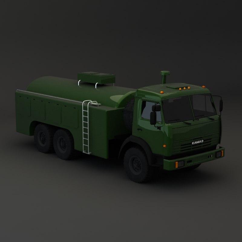 3d 3ds kamaz maz tank