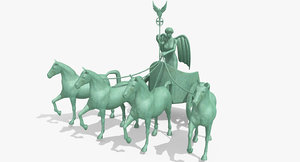 3d quadriga brandenburg gate berlin
