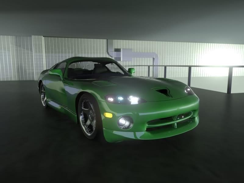 3d dodge viper gts model