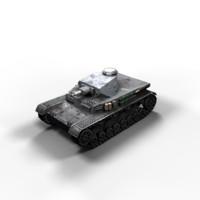 Panzer 4 Ausf A/B Low Poly
