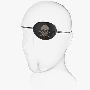 eyepatch head 3d 3ds