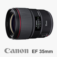3d canon ef 35mm f model