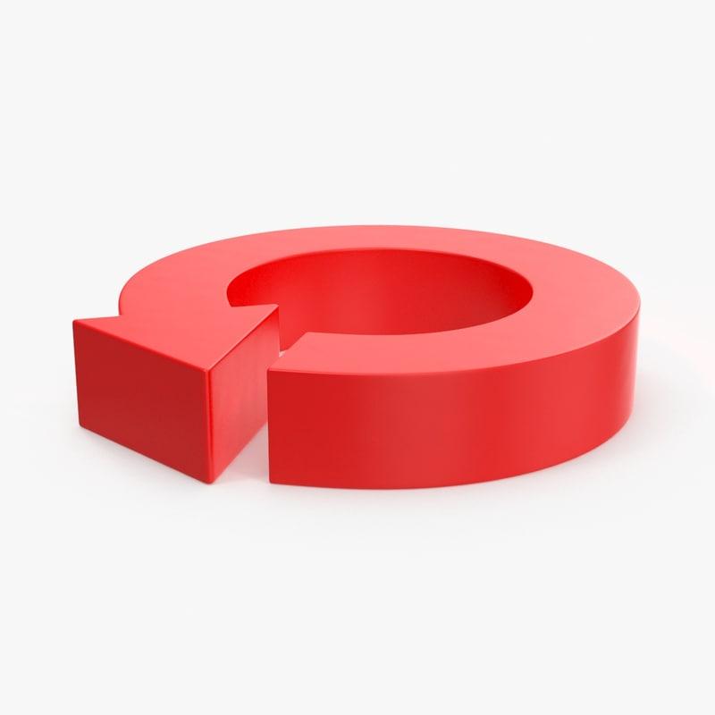 3d arrow symbols circle