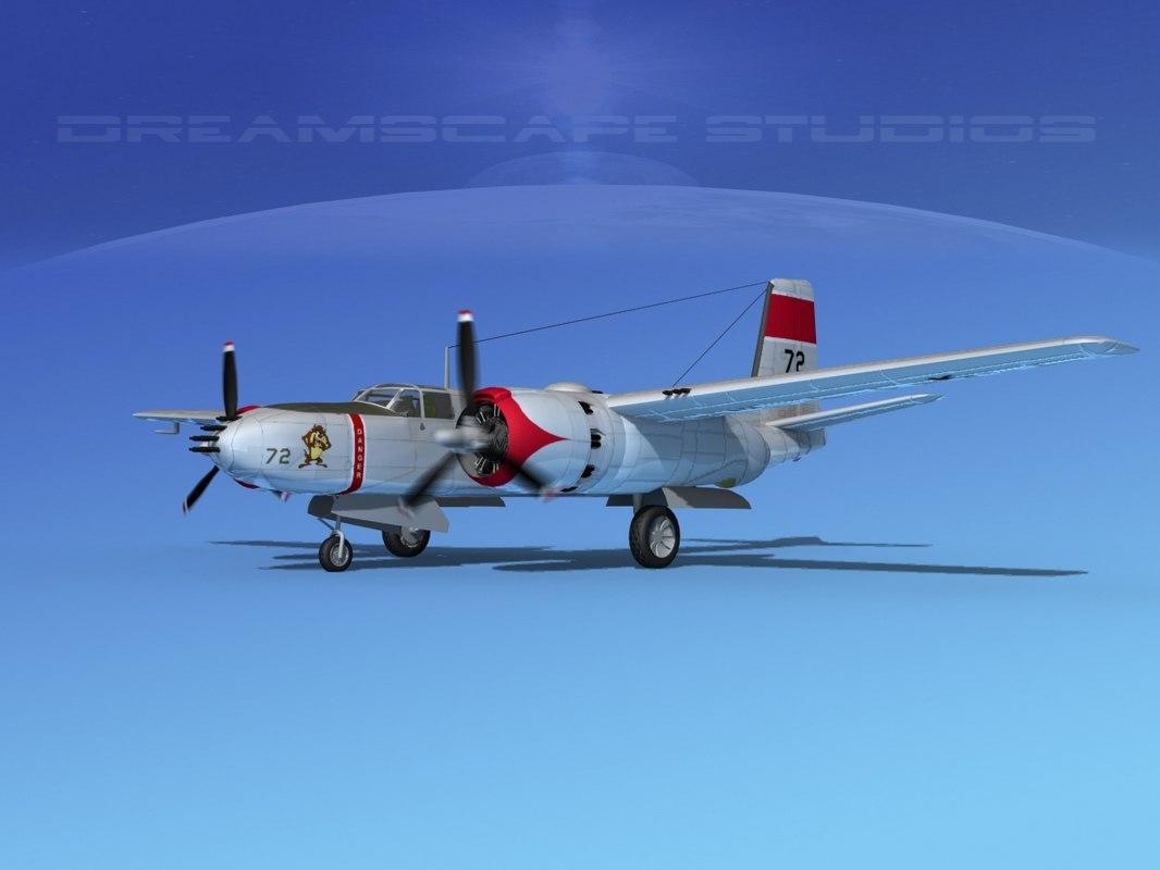 3d max radial douglas invader bomber