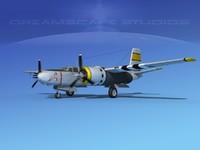 radial douglas invader bomber 3d model