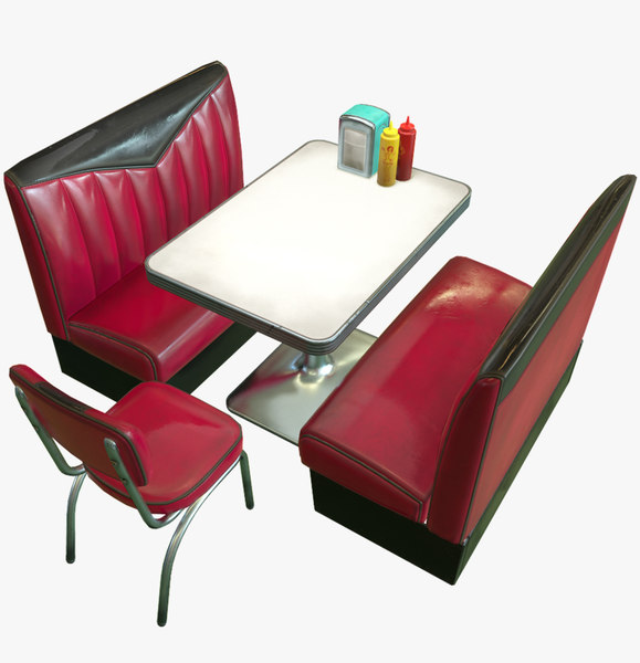 - diner booth fbx