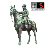Statue Prince  Horse  HD