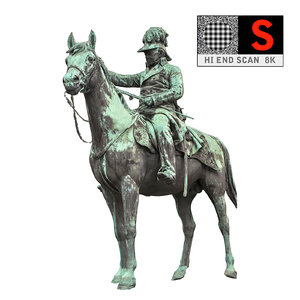 statue horse hd 3d model