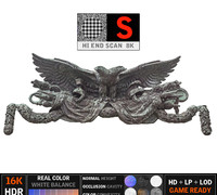 eagle sculpture building 3d max